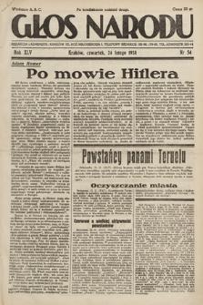 Głos Narodu. 1938, nr54