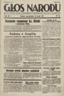 Głos Narodu. 1938, nr58
