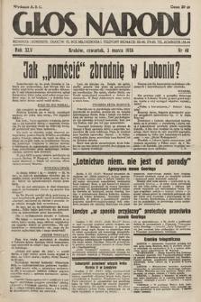 Głos Narodu. 1938, nr61