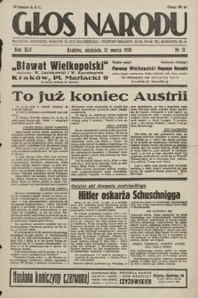 Głos Narodu. 1938, nr71