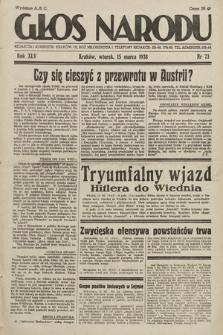 Głos Narodu. 1938, nr73