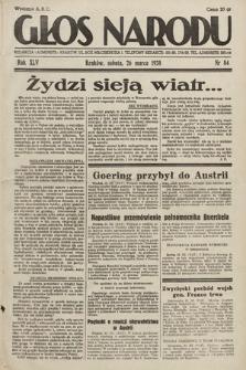 Głos Narodu. 1938, nr84