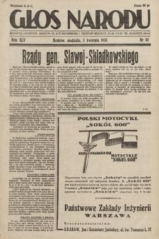 Głos Narodu. 1938, nr92