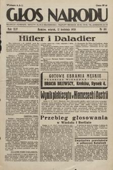 Głos Narodu. 1938, nr101