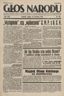 Głos Narodu. 1938, nr109