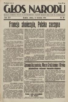 Głos Narodu. 1938, nr110