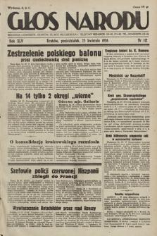 Głos Narodu. 1938, nr112