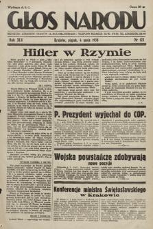 Głos Narodu. 1938, nr123