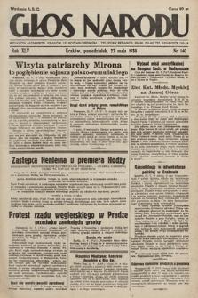 Głos Narodu. 1938, nr140