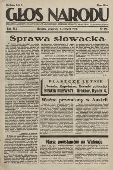 Głos Narodu. 1938, nr150