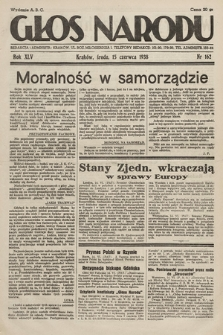 Głos Narodu. 1938, nr162