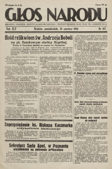 Głos Narodu. 1938, nr167