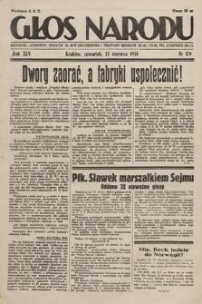 Głos Narodu. 1938, nr170