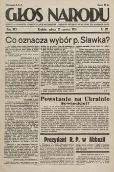 Głos Narodu. 1938, nr172