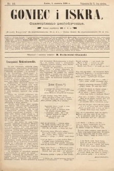 Goniec i Iskra : czasopismo perjodyczne. 1898, nr16