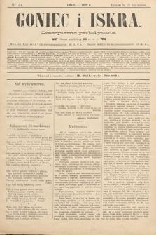 Goniec i Iskra : czasopismo perjodyczne. 1899, nr34