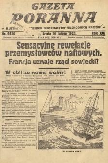 Gazeta Poranna : ilustrowany dziennik informacyjny wschodnich kresów. 1923, nr6620