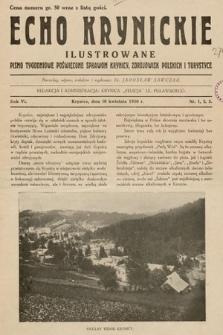 Echo Krynickie : pismo tygodniowe poświęcone sprawom Krynicy, zdrojowisk polskich i turystyce. 1930, nr1-3