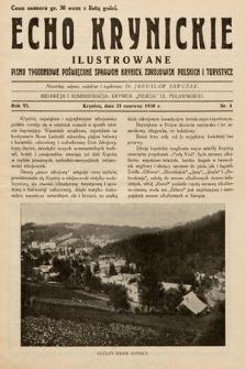 Echo Krynickie : pismo tygodniowe poświęcone sprawom Krynicy, zdrojowisk polskich i turystyce. 1930, nr4