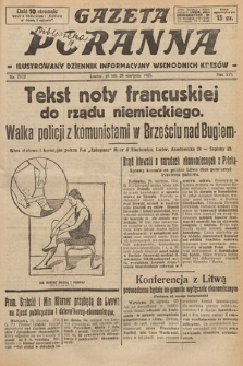 Gazeta Poranna : ilustrowany dziennik informacyjny wschodnich kresów. 1925, nr7523