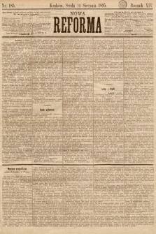 Nowa Reforma. 1895, nr185