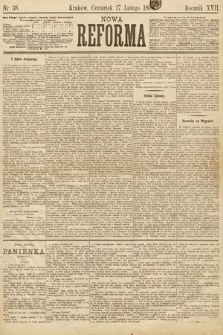 Nowa Reforma. 1898, nr38