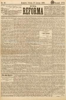 Nowa Reforma. 1898, nr40
