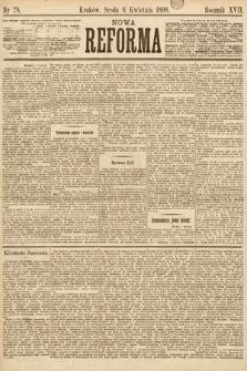 Nowa Reforma. 1898, nr78