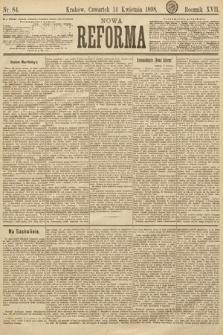Nowa Reforma. 1898, nr84