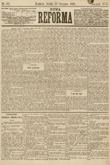 Nowa Reforma. 1898, nr181