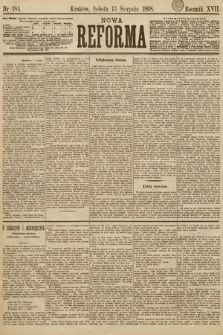 Nowa Reforma. 1898, nr184