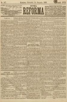 Nowa Reforma. 1898, nr187