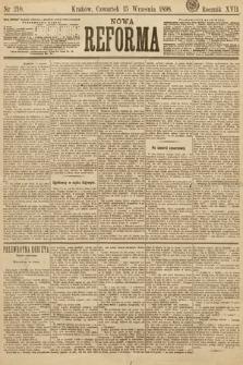 Nowa Reforma. 1898, nr210