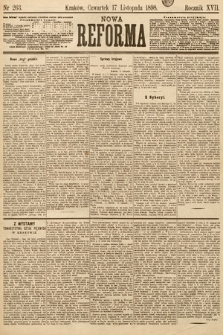 Nowa Reforma. 1898, nr263
