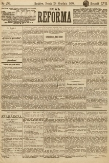 Nowa Reforma. 1898, nr296