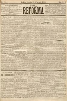 Nowa Reforma. 1900, nr210