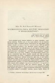 Kwartalnik Muzyczny : organ Stowarzyszenia Miłośników Dawnej Muzyki poświęcony teorii, historii i etnografii muzyki. 1931, z.10-11