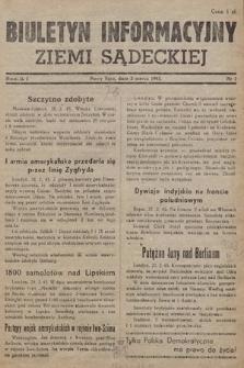 Biuletyn Informacyjny Ziemi Sądeckiej. 1945, nr1