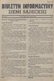 Biuletyn Informacyjny Ziemi Sądeckiej. 1945, nr7