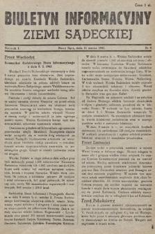 Biuletyn Informacyjny Ziemi Sądeckiej. 1945, nr9