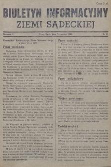 Biuletyn Informacyjny Ziemi Sądeckiej. 1945, nr11