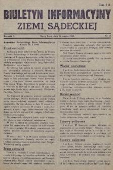 Biuletyn Informacyjny Ziemi Sądeckiej. 1945, nr13