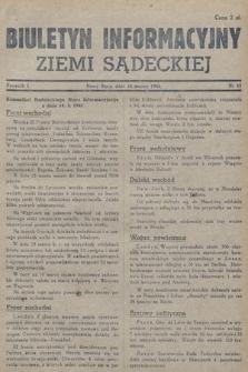 Biuletyn Informacyjny Ziemi Sądeckiej. 1945, nr15