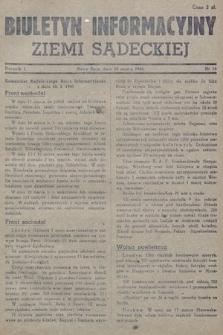 Biuletyn Informacyjny Ziemi Sądeckiej. 1945, nr16