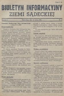 Biuletyn Informacyjny Ziemi Sądeckiej. 1945, nr17