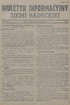 Biuletyn Informacyjny Ziemi Sądeckiej. 1945, nr18