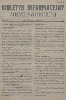 Biuletyn Informacyjny Ziemi Sądeckiej. 1945, nr19