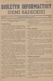 Biuletyn Informacyjny Ziemi Sądeckiej. 1945, nr25