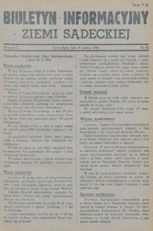 Biuletyn Informacyjny Ziemi Sądeckiej. 1945, nr26