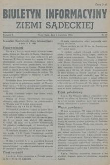 Biuletyn Informacyjny Ziemi Sądeckiej. 1945, nr29